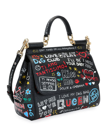 Sicily St. Dauphine Medium Graffiti Top Handle Bag