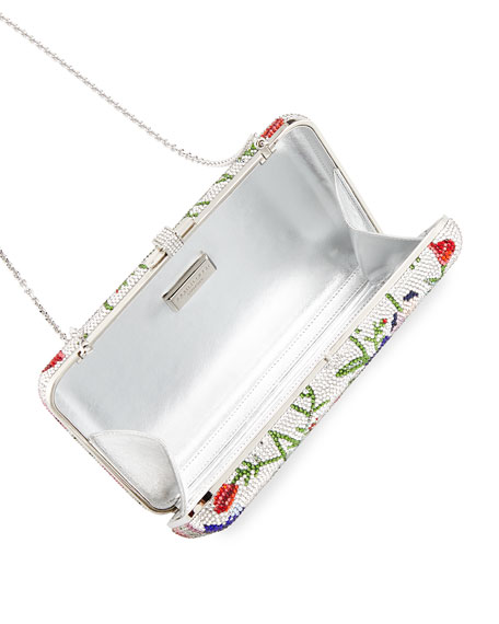 Morning Glory Slim Slide Clutch Bag