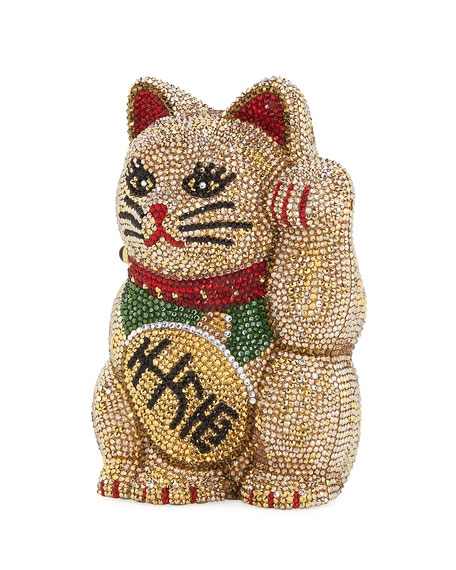 Judith Leiber Couture Maneki Neko Beckoning Cat Clutch