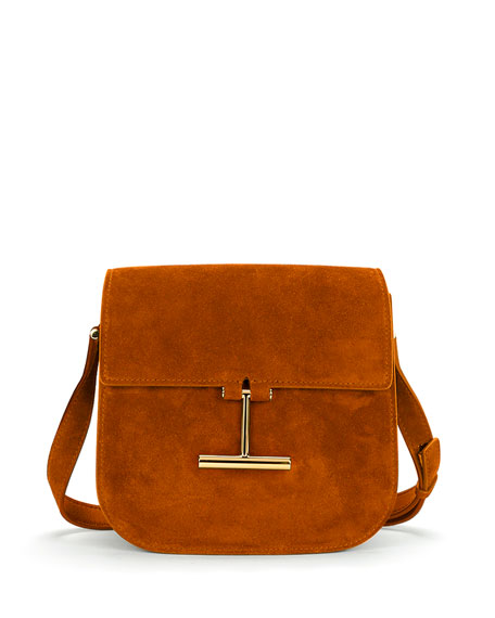 TOM FORD Tara Suede Small Shoulder Bag