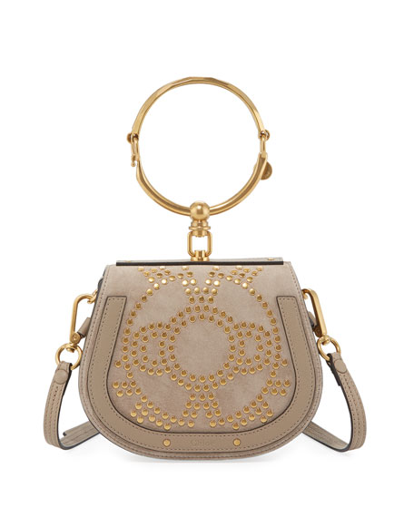 Chloe Nile Small Studded Bracelet Bag