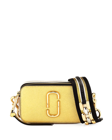 Marc Jacobs Snapshot Metallic Saffiano Leather Camera Bag