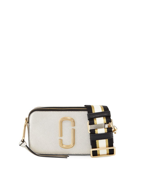 Marc Jacobs Metallic Snapshot Leather Camera Bag