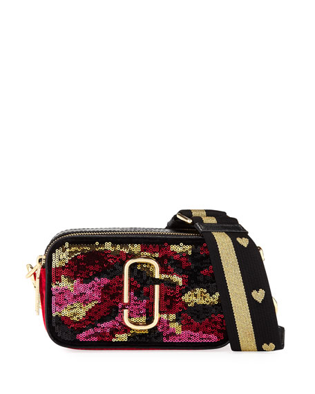 Marc Jacobs Snapshot Camouflage Sequin Camera Bag