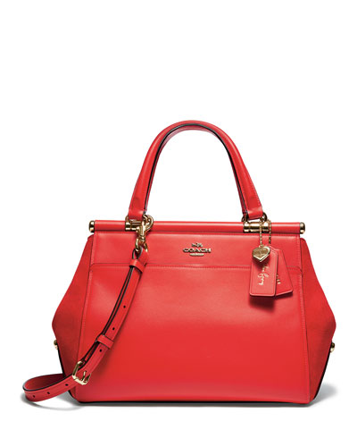 Selena Grace Mixed Leather Satchel Bag