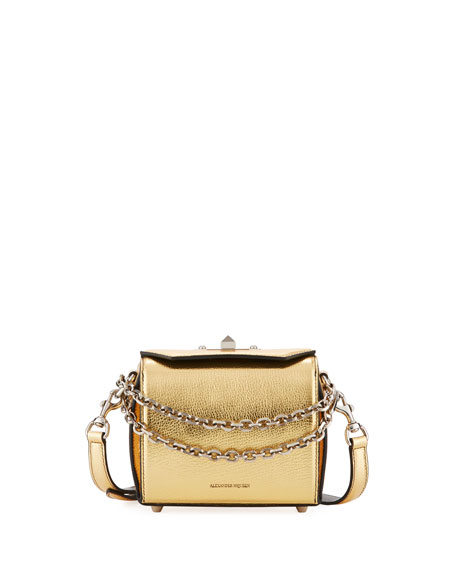 Alexander McQueen Box Bag 16 Metallic Leather Shoulder