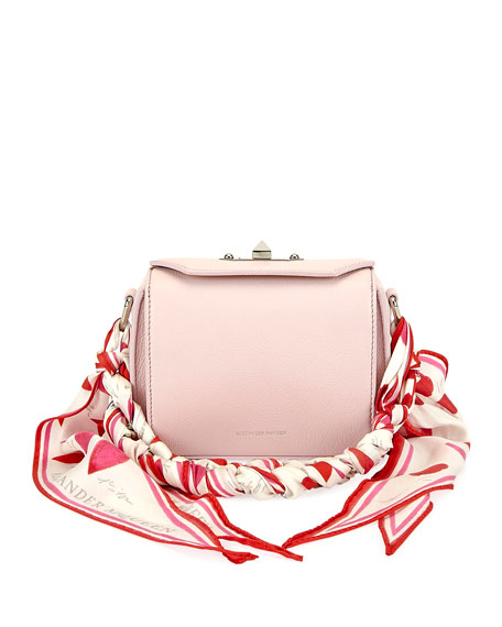 Alexander McQueen Box 16 Pebbled Silky Leather Crossbody