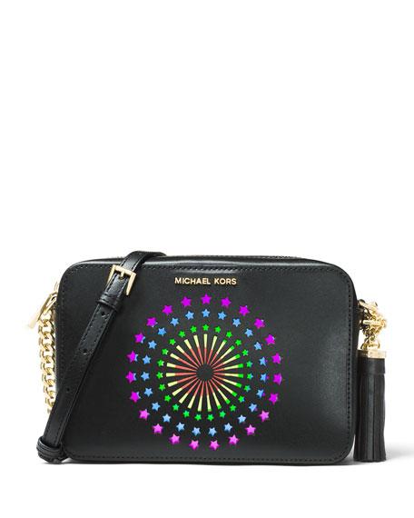 MICHAEL Michael Kors Ginny Medium Camera Bag, Black