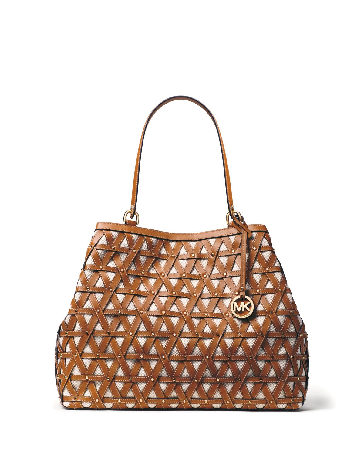 505f25d9db7b MICHAEL Michael Kors Brooklyn XL Lattice Grab Bag