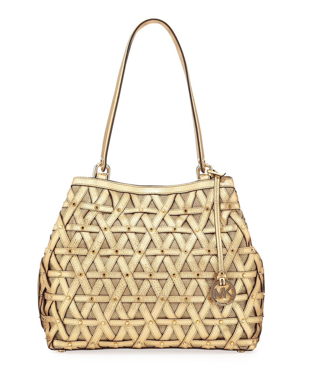 d06a48f93713 MICHAEL Michael Kors Brooklyn XL Metallic Shoulder Bag, Gold ...