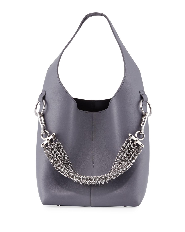 Alexander Wang Genesis Box Chain Mini Hobo Bag, Washed Denim ... 9db2ef8555