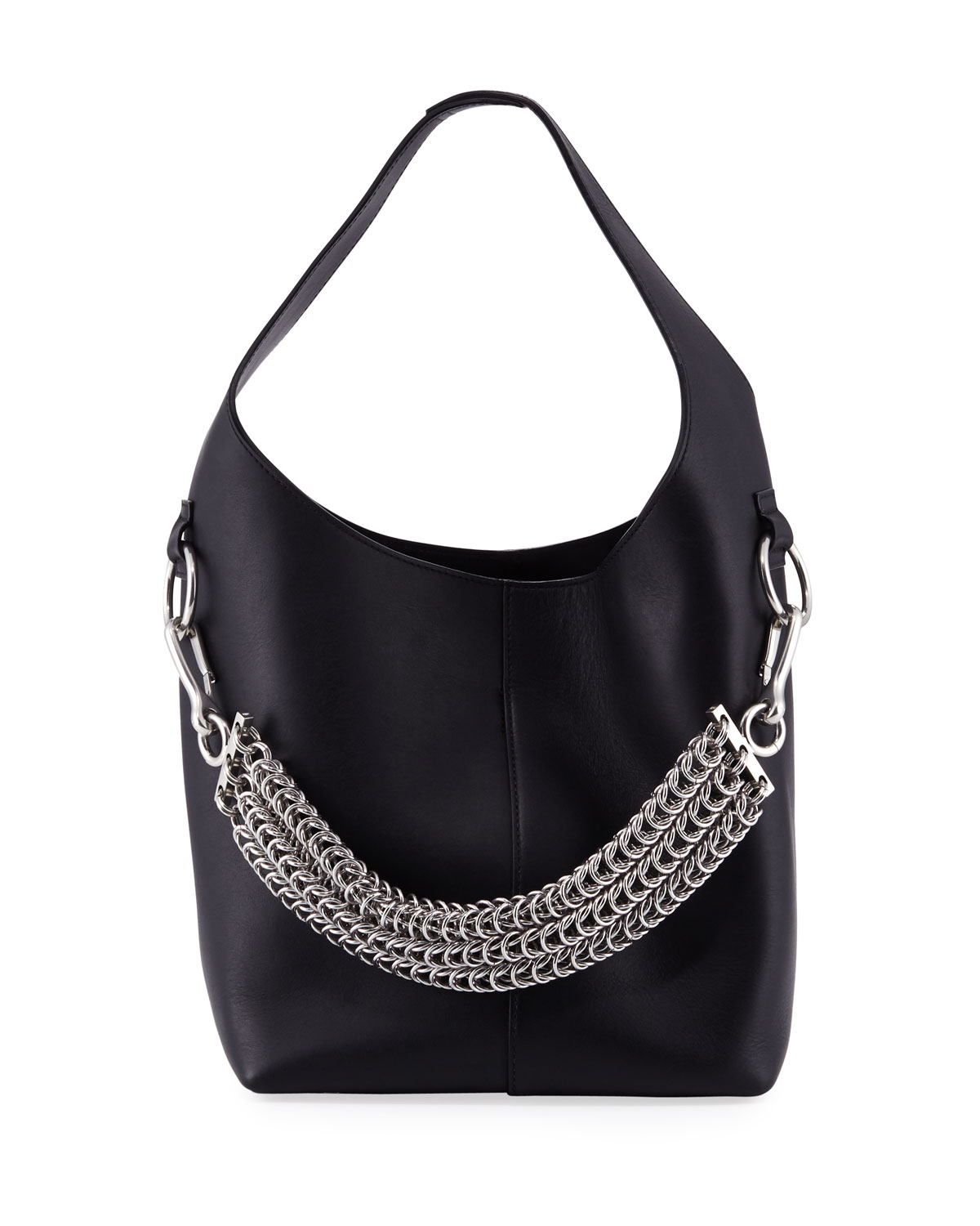 0150ed29aed Alexander Wang Genesis Box Chain Extra Large Hobo Bag, Black ...