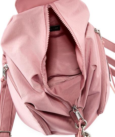 Washed Nylon Multi-Zip Backpack