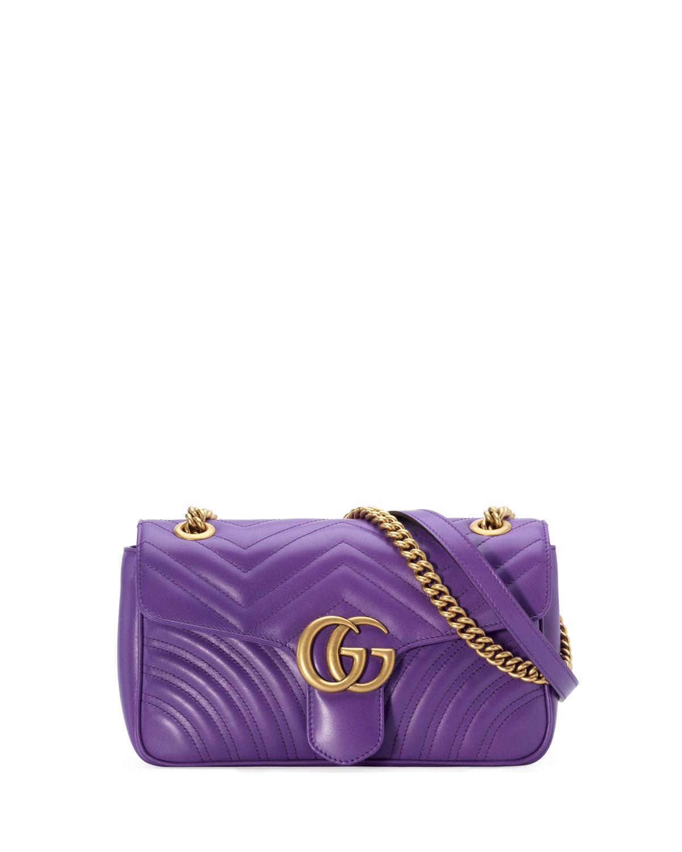 1f2a4b903e9 Gucci GG Marmont Small Matelassé Shoulder Bag