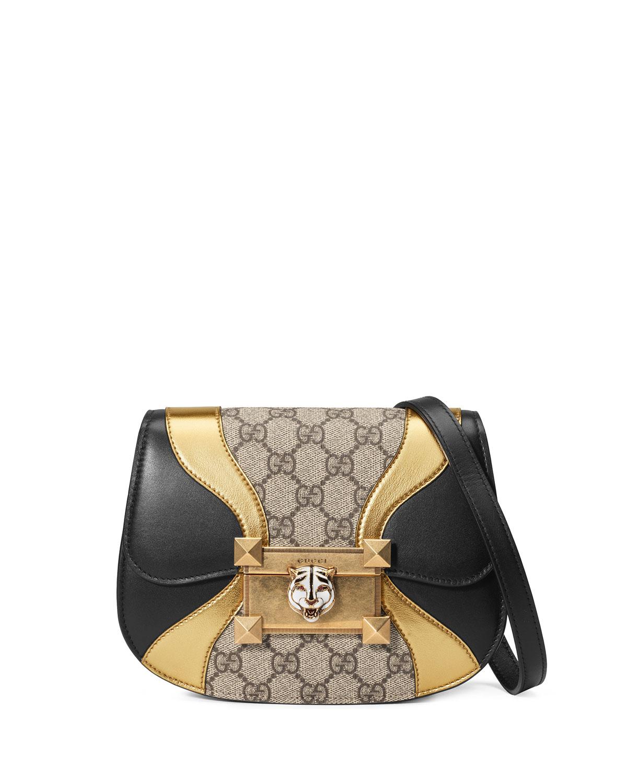 13e3bfcb744 Gucci Osiride GG Supreme Shoulder Bag with Wave Detail