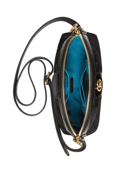 Linea Dragoni Suede Small Chain Shoulder Bag