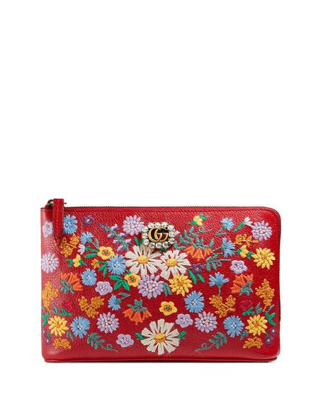 Ricamo Fiori Floral Zip Wallet