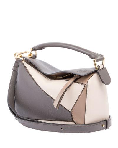 Puzzle Medium Colorblock Leather Bag