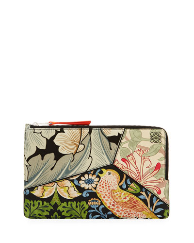 Puzzle Flat Printed Pouch Bag, Multi