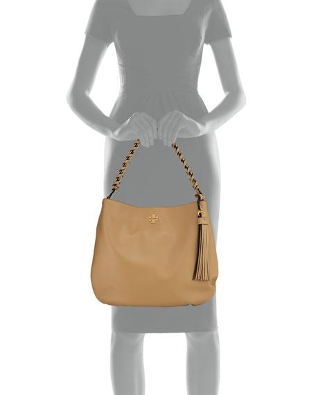 Brooke Whipstitch Chain Leather Hobo Bag