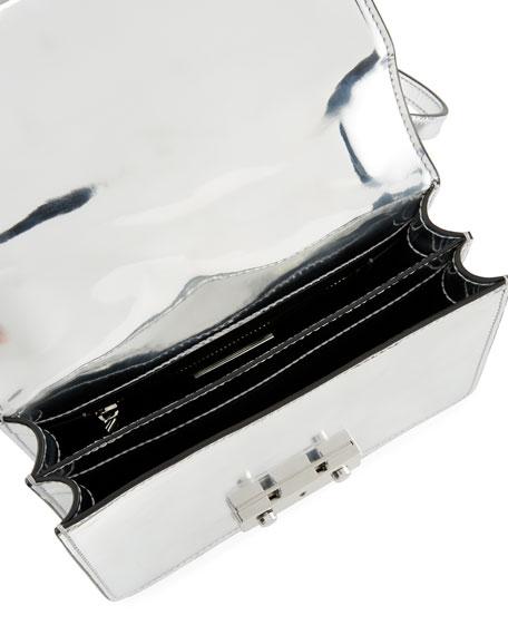 Juliette Mini Metallic Top-Handle Bag