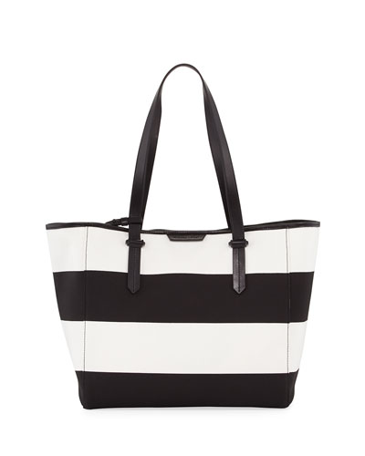 Shelly Striped Canvas Tote Bag