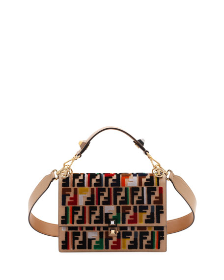 Fendi Kan I Calf Leather Shoulder Bag with