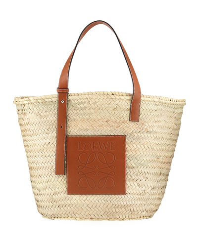 Large Basket Tote Bag