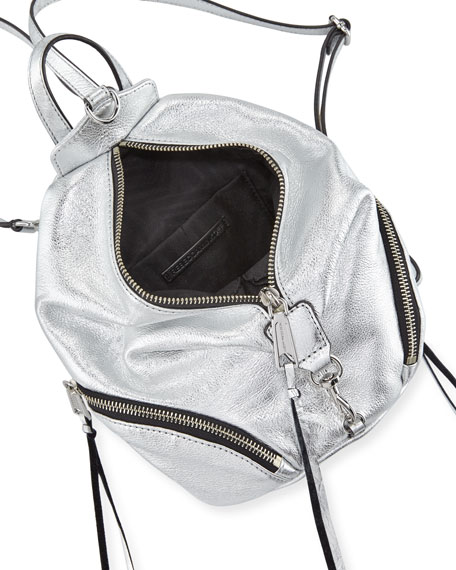 Julian Convertible Metallic Mini Backpack