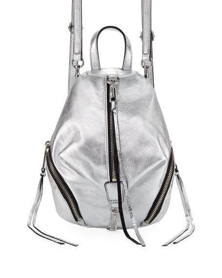 Rebecca Minkoff Julian Convertible Metallic Mini Backpack