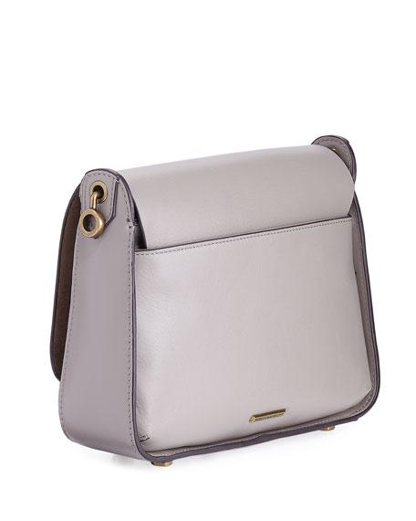 Ring Leather Shoulder Bag, Taupe