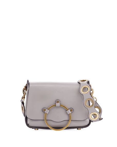 Rebecca Minkoff Ring Leather Shoulder Bag, Taupe
