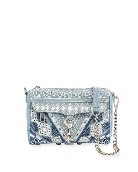 Rebecca Minkoff MAC Mini Denim Crossbody Bag