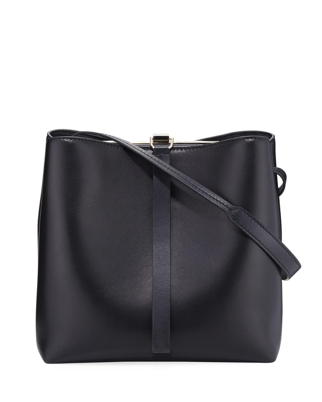 Hinged Leather Handbag | Neiman Marcus