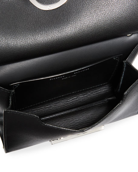 Small Curl Leather & Suede Clutch Bag