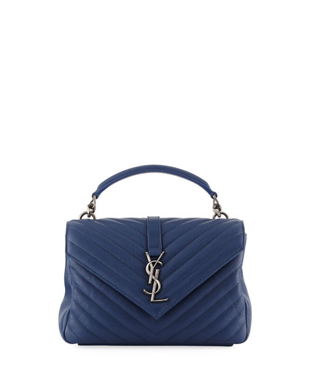 Saint Laurent Monogram College Medium V-Flap Crossbody Bag