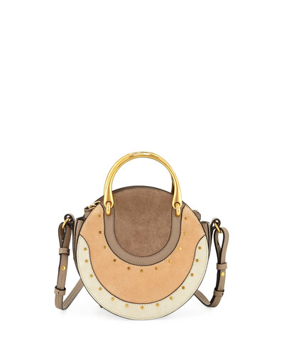 Chloe Pixie Small Colorblock Round Shoulder Bag