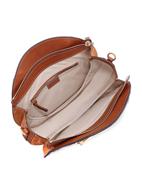 Pixie Medium Round Woven Shoulder Bag