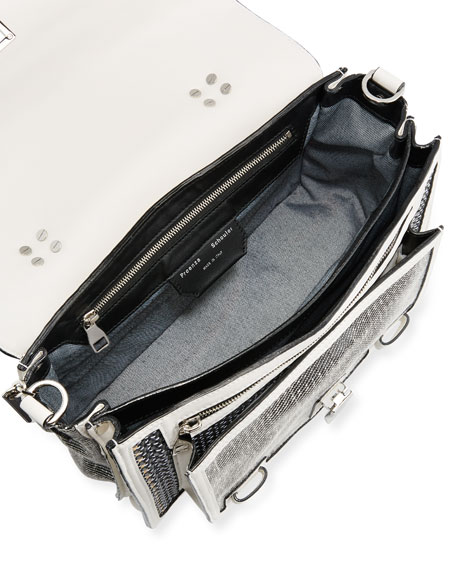 PS1 Medium Mixed Woven Shoulder Bag