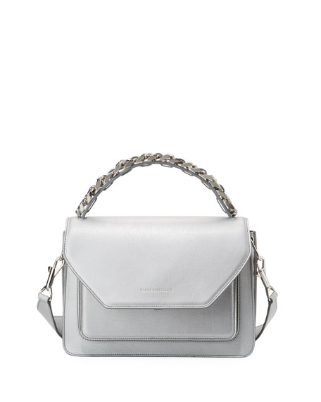 Eclipse Medium Silver Madras Top Handle Bag