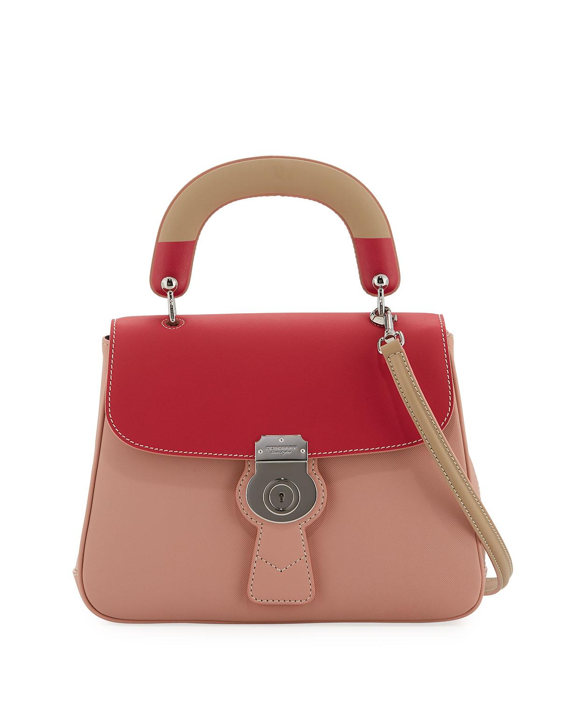 61c55bbeb2e Burberry DK88 Medium Colorblock Top Handle Bag | Neiman Marcus