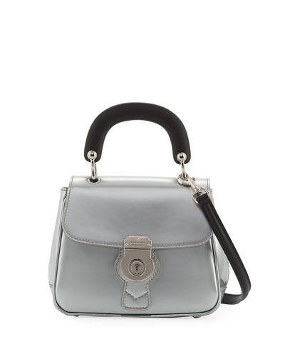 DK88 Small Metallic Trench Leather Top Handle Bag