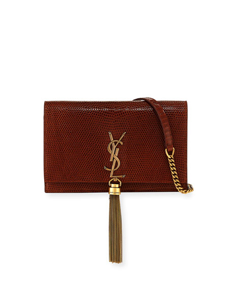Saint Laurent Kate Monogram YSL Small Lizard Wallet