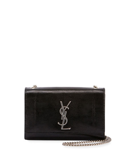 Saint Laurent Kate Monogram Small Lizard Chain Shoulder