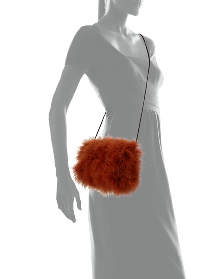 Marabou Feather Mini Crossbody Bag