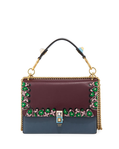 Fendi Kan I Medium Whipstitch Calf Shoulder Bag