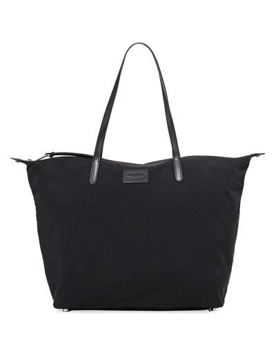 Washed Nylon Tote Bag