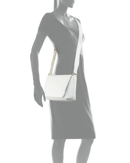 Burleigh Small Soft Leather Crossbody Bag, White