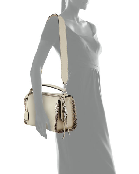 Selleria Lei Medium Calf and Snakeskin Top-Handle Bag