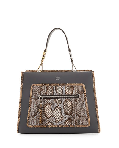 Runaway Small Python/Leather Shoulder Bag